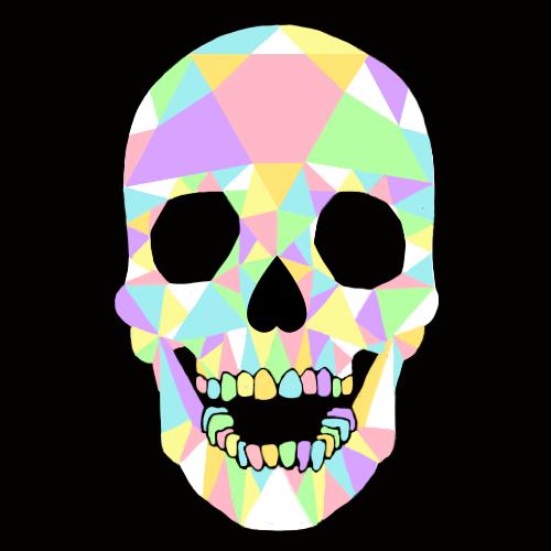pastel crystal skull