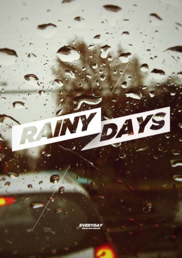 rainy days poster