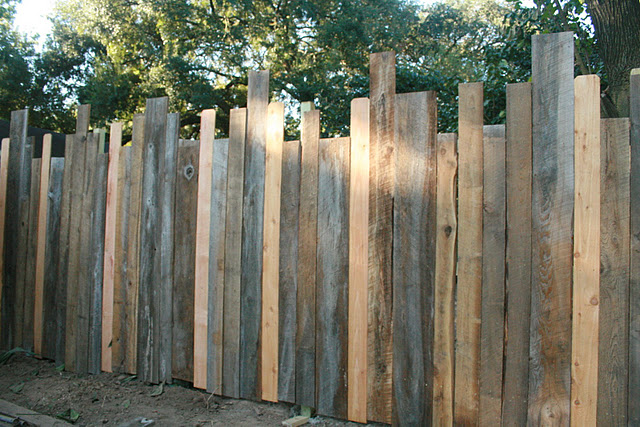 repurposed wood fence
